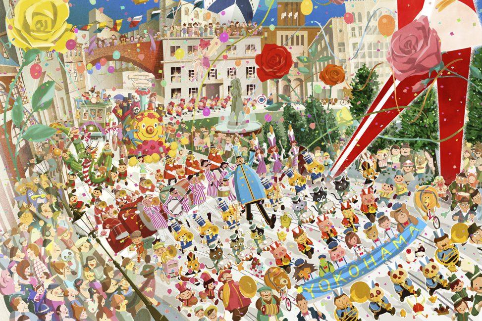 第65回よこはまパレード ポスター イラストレーション